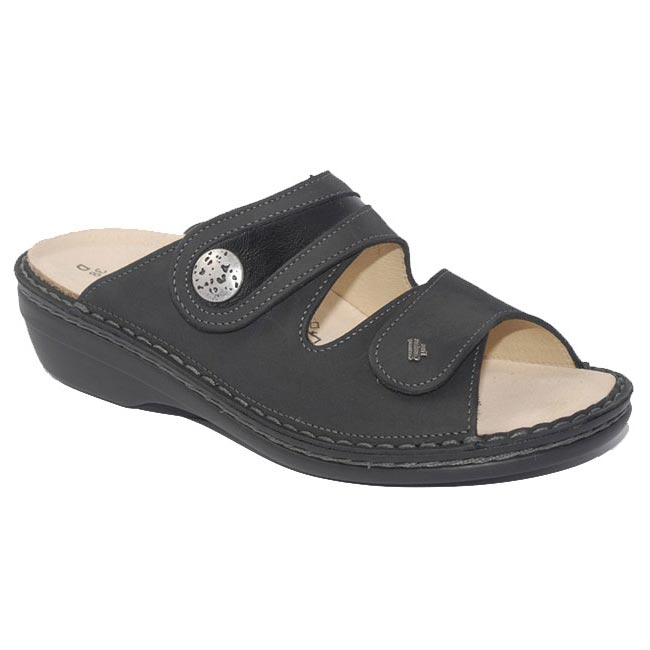 Finn Comfort Mira Leather Soft Footbed Black