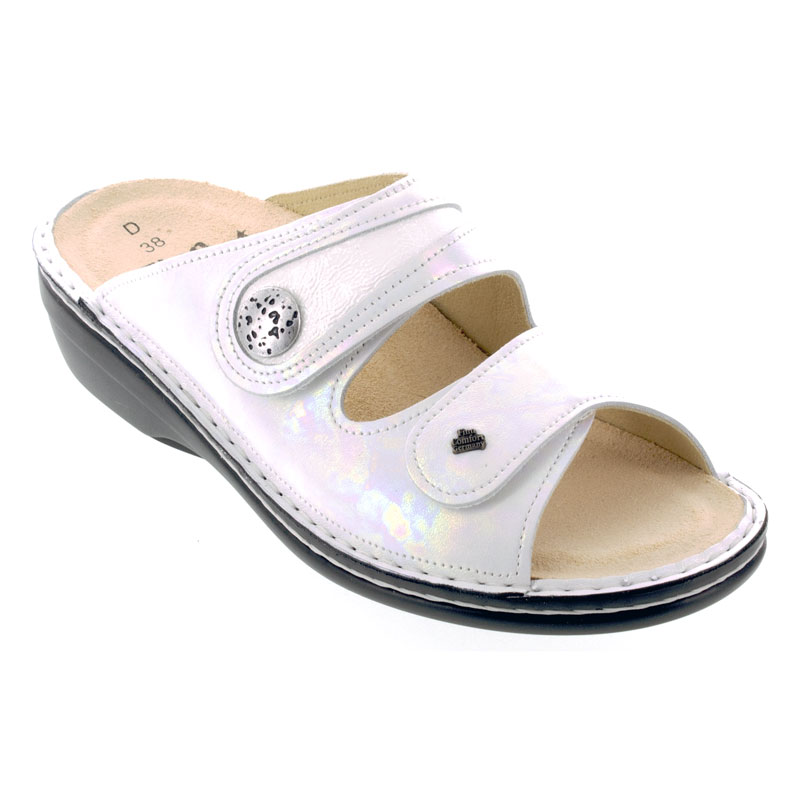 Finn Comfort Mira Perla White Leather Soft Footbed 39