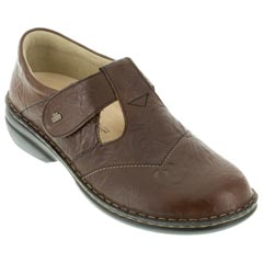 Finn Comfort Nashville Leather Soft Footbed Chestnut Shoes