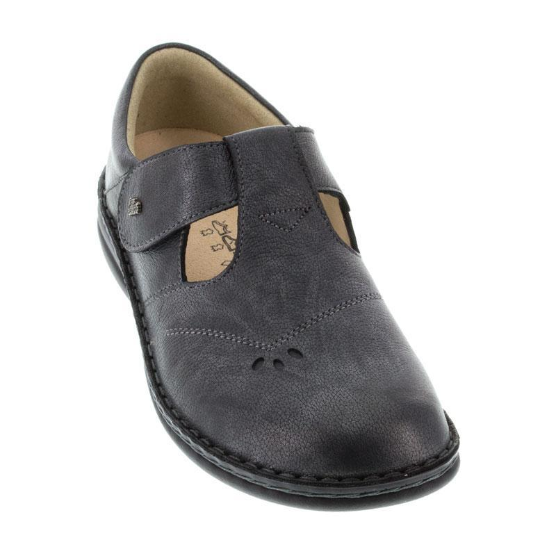 Finn Comfort Nashville Nerosilver Leather Soft Footbed