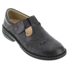 Finn Comfort Nashville Leather Soft Footbed Nerosilver