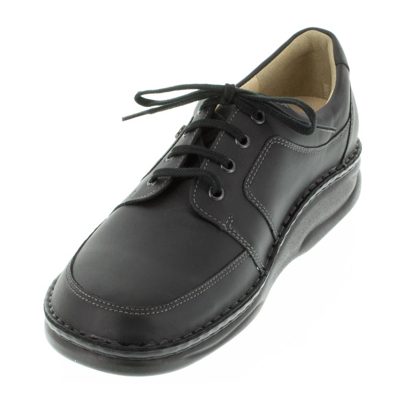 Finn Comfort Norwich Black Leather left side front right shoe