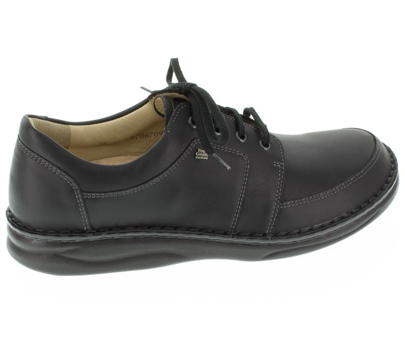 Finn Comfort Norwich Black Leather right side right shoe