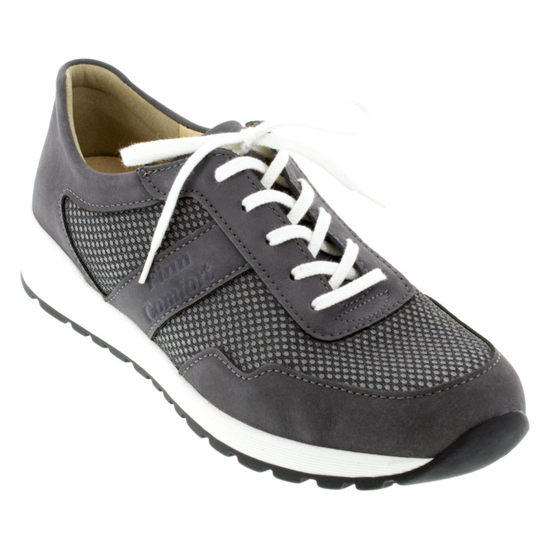 Mens Finn Comfort Prezzo Grey Leather