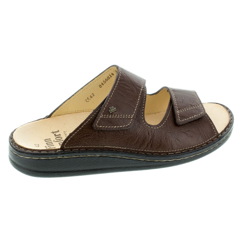 Finn Comfort Riad Brown Leather Sandals right side view