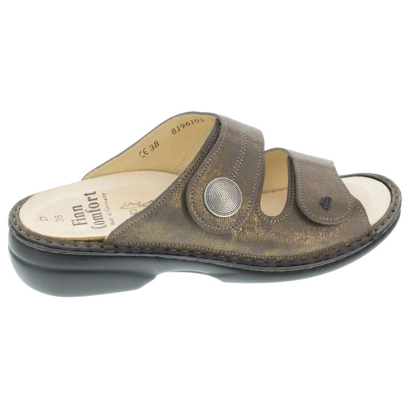 Finn Comfort Sansibar Bronze Leather Soft Footbed right side view