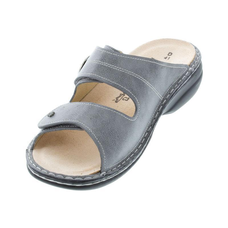 Finn Comfort Grey Leather Soft Footbed