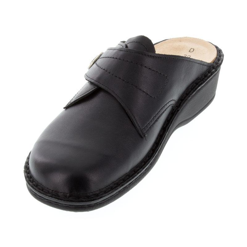 Finn Comfort Santa Fe Black Leather Soft Footbed