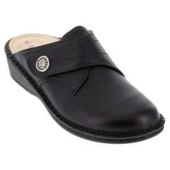 Finn Comfort Santa Fe Leather Soft Footbed Black