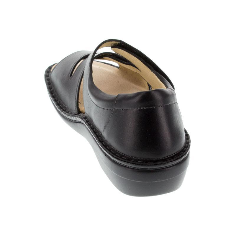 Finn Comfort Sintra Black Leather Soft Footbed