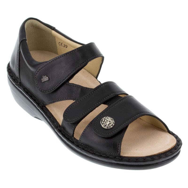 Finn Comfort Sintra Leather Soft Footbed Black