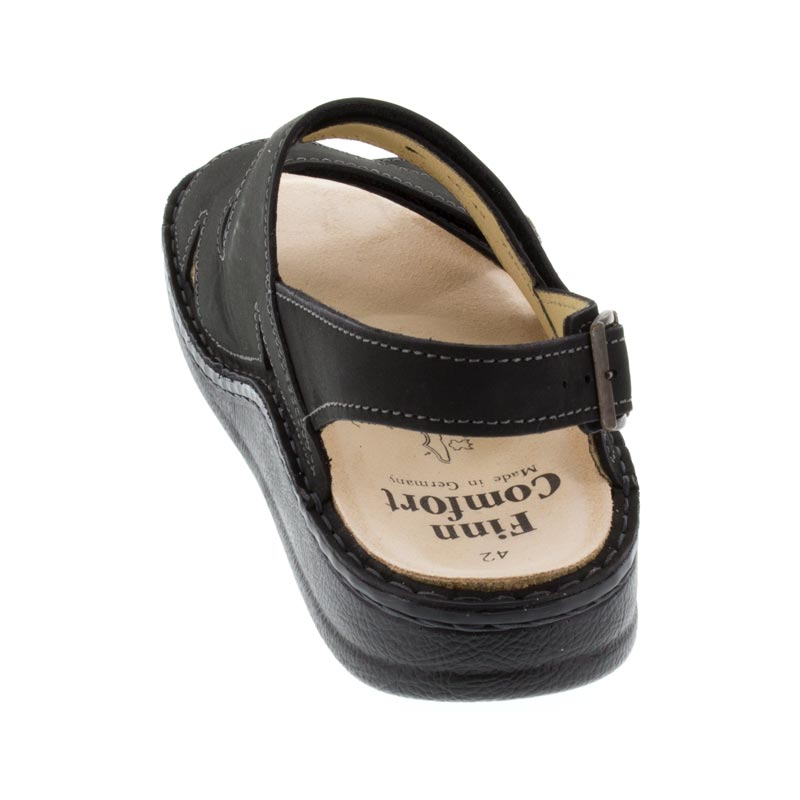 Finn Comfort Toro Black Leather Soft Footbed
