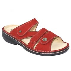 Finn Comfort Ventura Nubuck Soft Footbed Red Sandals