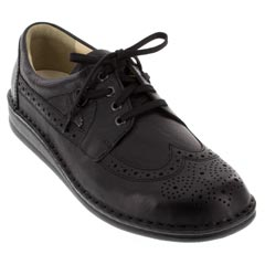 Finn Comfort York Leather Black Shoes