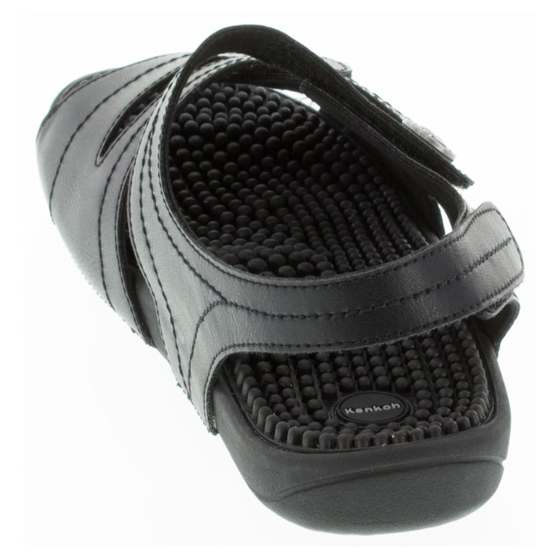 Kenkoh Essence Black Massage Sandal back view