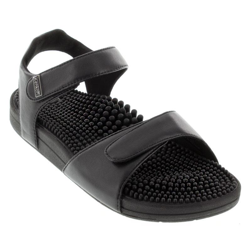 Kenkoh Grace V Black Massage Sandal 26