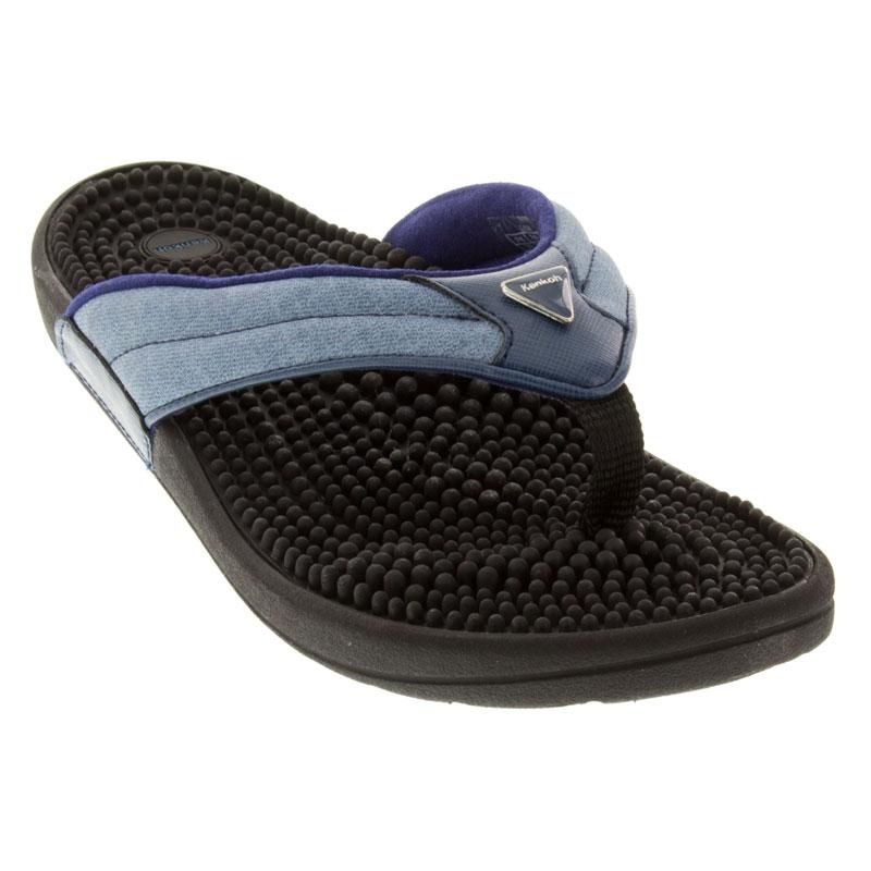 0203210d4e49 Kenkoh Spirit Denim Blue Sandals - HappyFeet.com