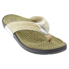 Kenkoh Spirit Linen Gold Sandals
