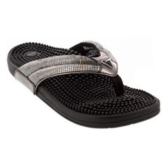 Kenkoh Spirit V Silver Metallic Sandals