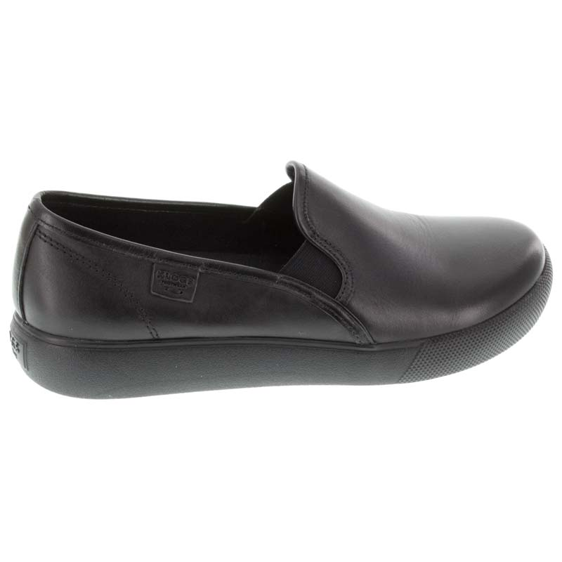 Klogs Reyes Black Leather Slip-Resistant right side view