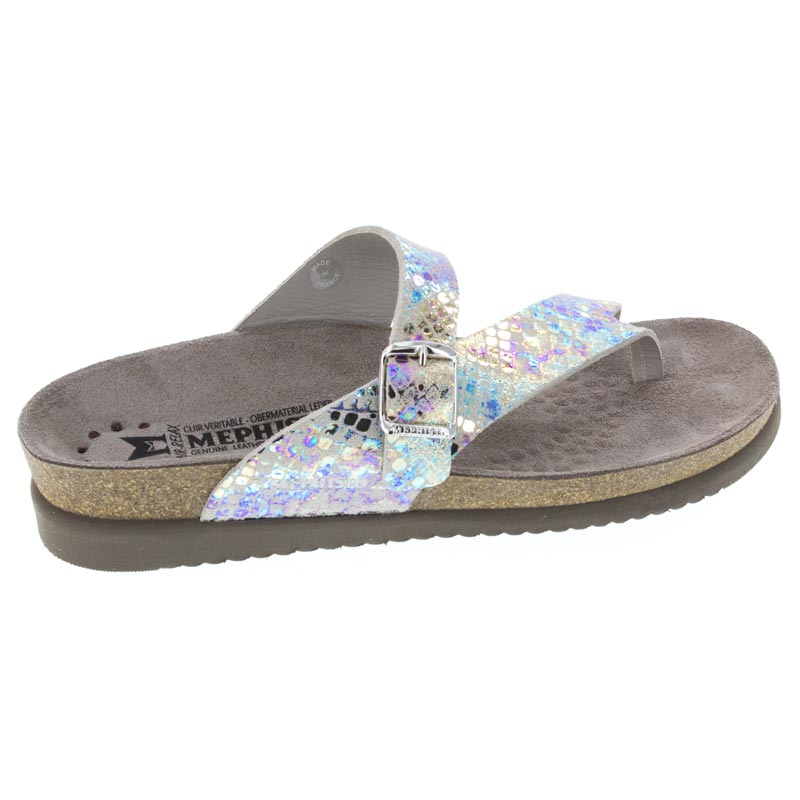 Mephisto Helen Print leather sandal right side