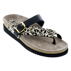 Mephisto Helen Black Graphic/Sand Sandals