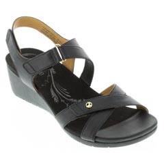 Revere Casablanca Black French Sandals