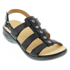 Revere Toledo Black French Sandals