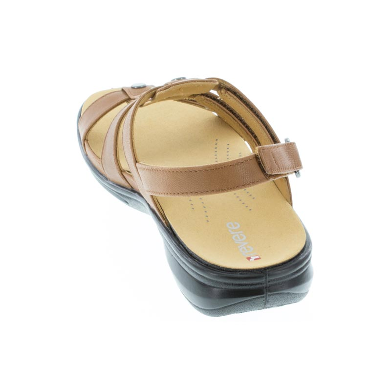 Revere Toledo Cognac Leather sandal back view