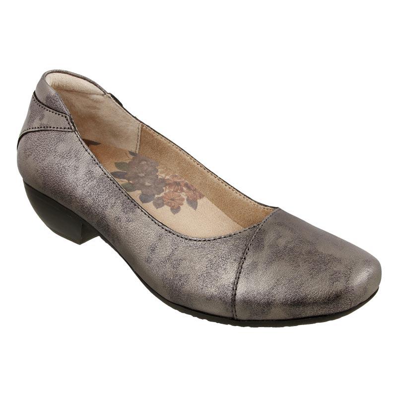 5d6b817768102 Womens Taos Debut Pewter Leather - Happyfeet.Com