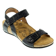 Taos Bonnie Black Sandals