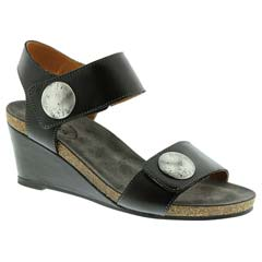 Taos Carousel Leather Black Sandals