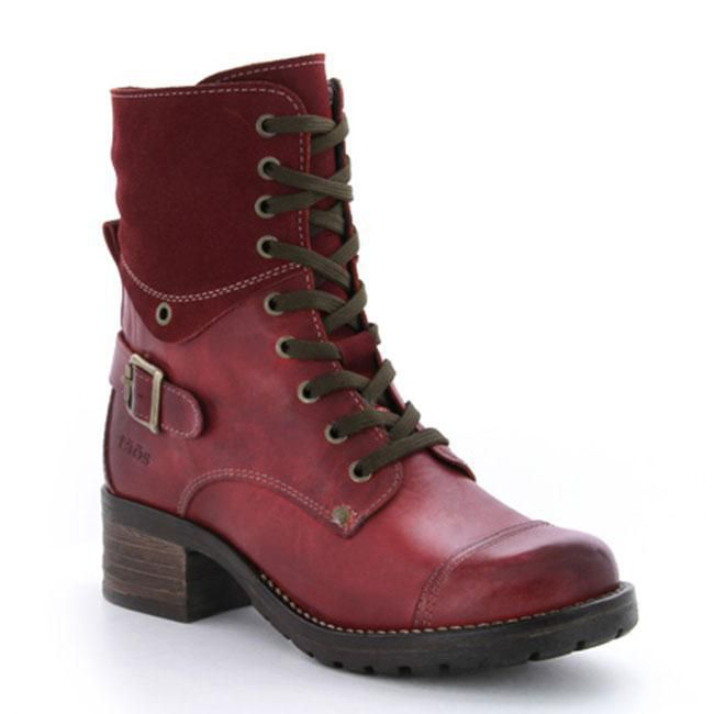 Taos Crave Leather Red Boots