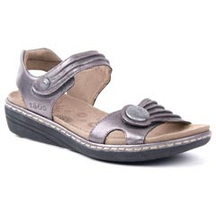Taos Escape Leather Pewter Sandals