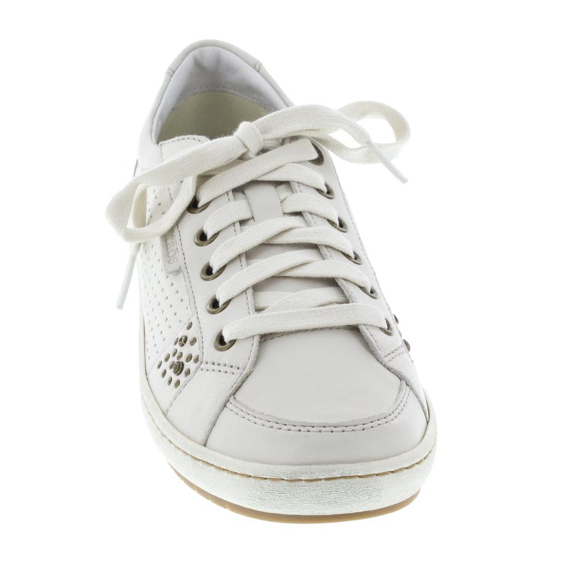 Taos Freedom White Leather sneaker front view