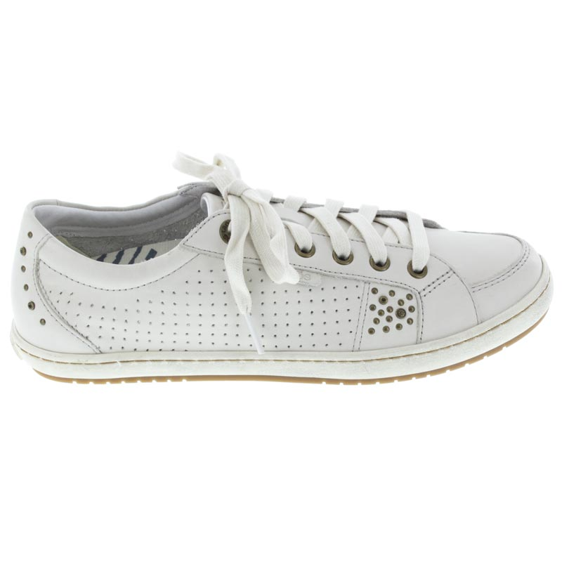 Taos Freedom White Leather sneaker right side view
