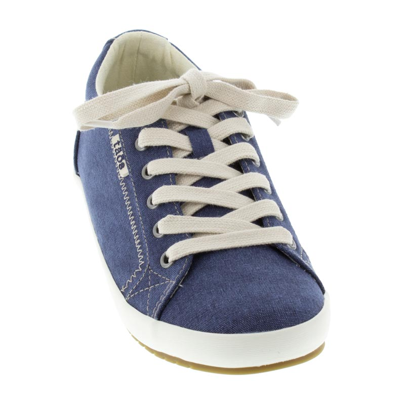 Taos Star Blue Wash Canvas left side front right shoe