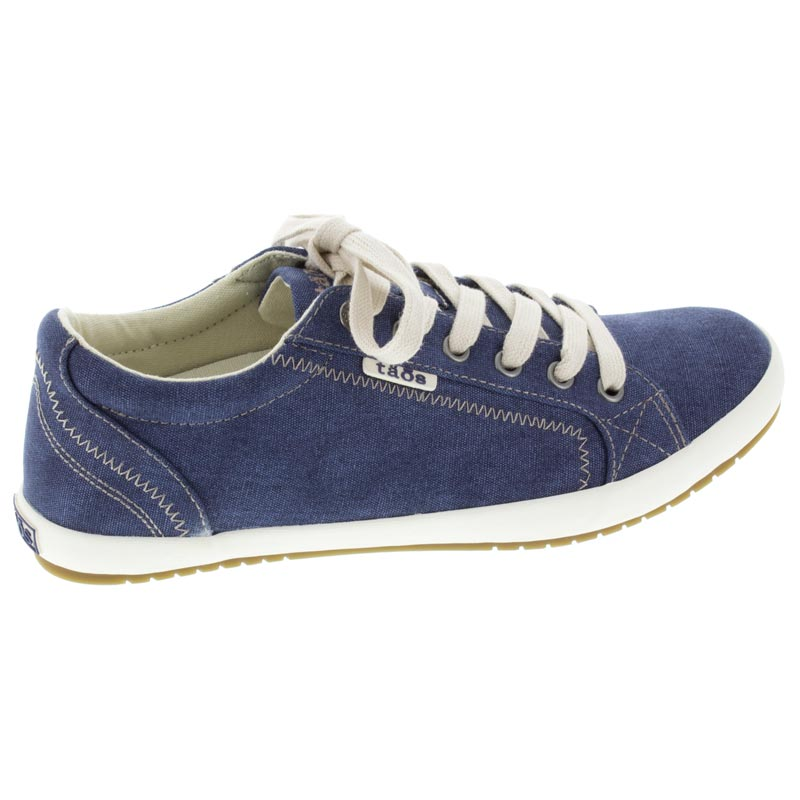 Taos Star Blue Wash Canvas right side right shoe