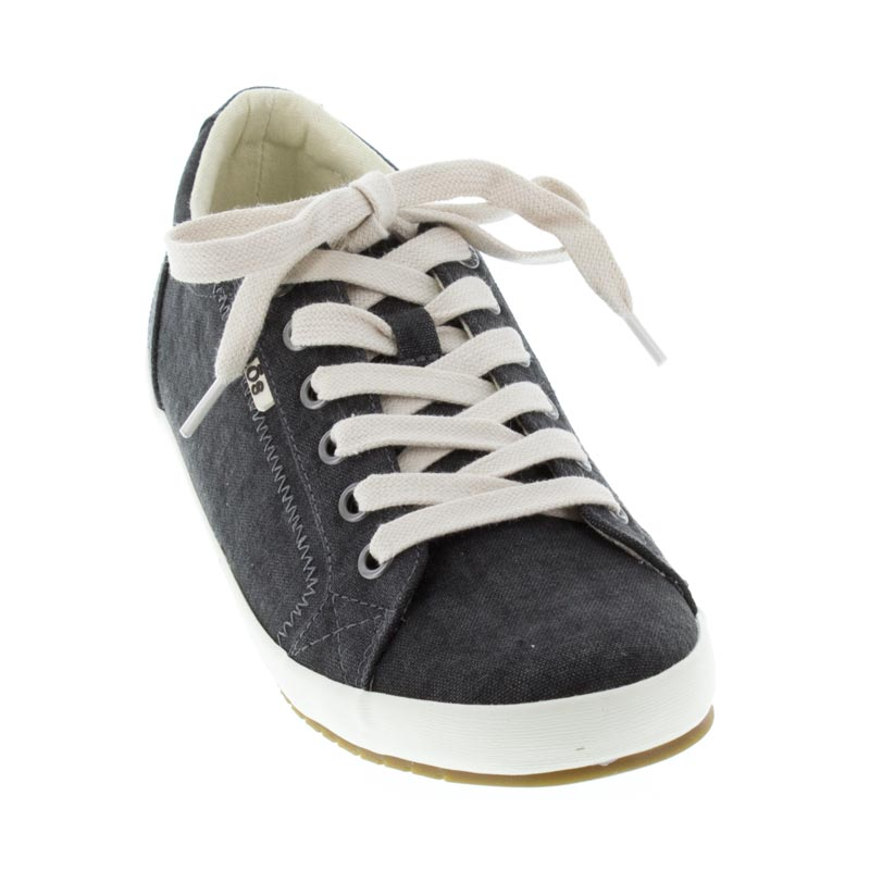 Taos Star Charcoal Wash Canvas left side front right shoe