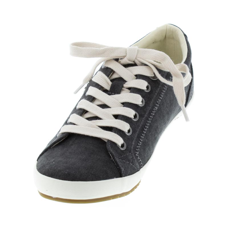Taos Star Charcoal Wash Canvas right side front right shoe
