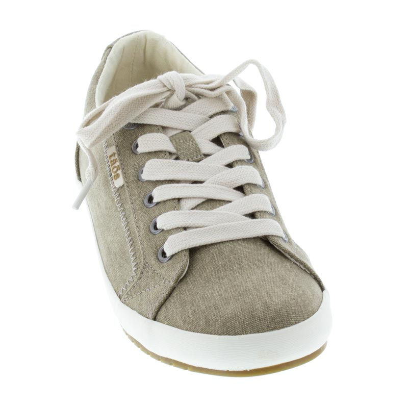 Taos Star Khaki Canvas left side front right shoe