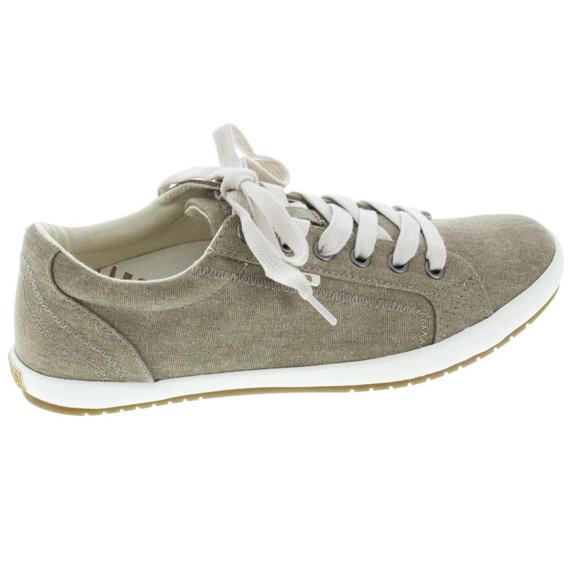 Taos Star Khaki Canvas right side right shoe