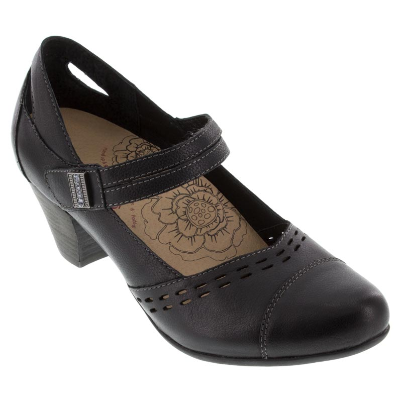 Taos Stunner Leather Black Shoes