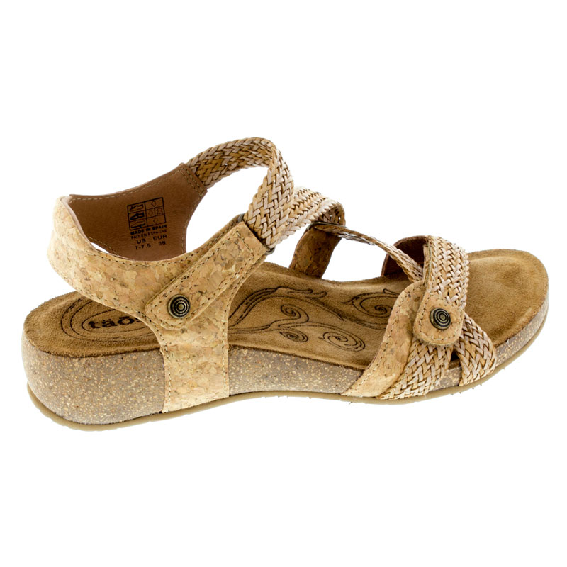 Taos Trulie Cork Leather Sandals right side view