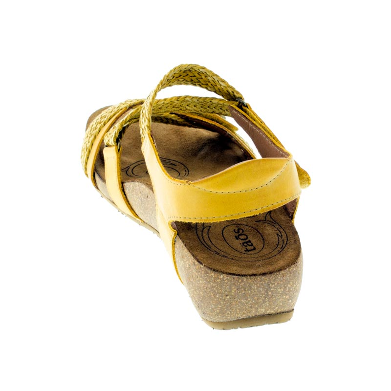 Taos Trulie Golden Yellow Leather sandals back view