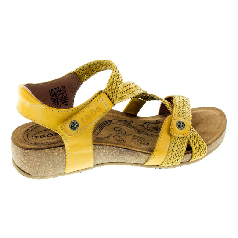 Taos Trulie Golden Yellow Leather sandals right side view