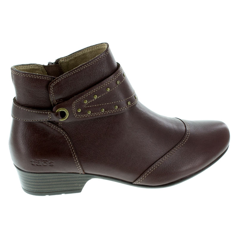 Taos Ultimo Brunette Leather boots right side view