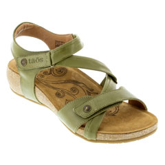 Taos Universe Herb Green Sandals