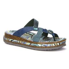 Think Zega Petrol Sandals