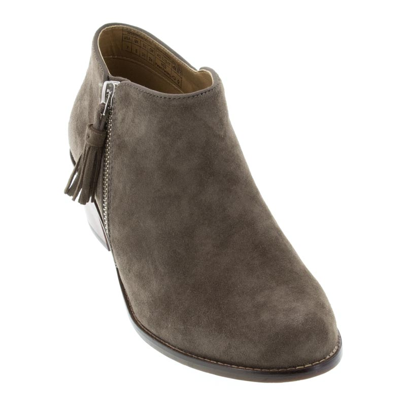 Vionic Serena Griege Suede Boot left front view